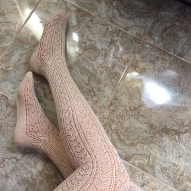 Forever21 Lace Thigh Socks