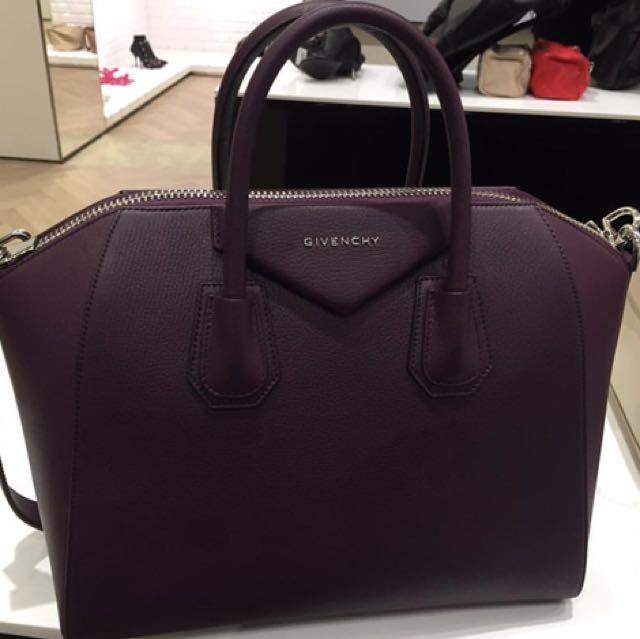 GIVENCHY Medium Antigona Bag 2016 (Seasonal Plum Colour)