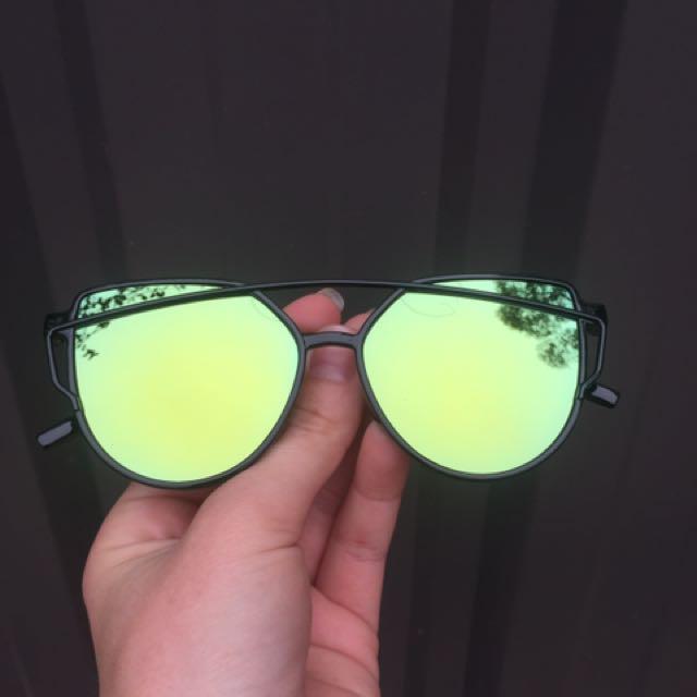 Green/Yellow Mirror Sunnies