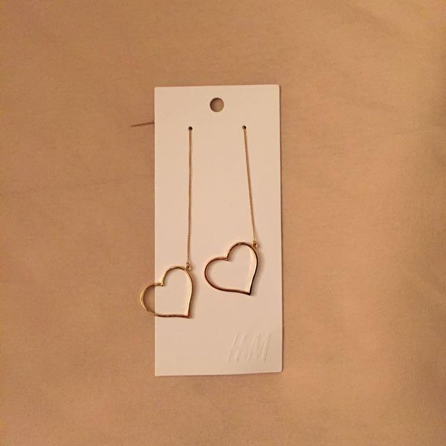 H&M Dangling Heart Earrings