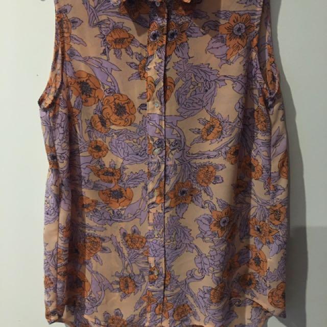 H&M floeal blouse