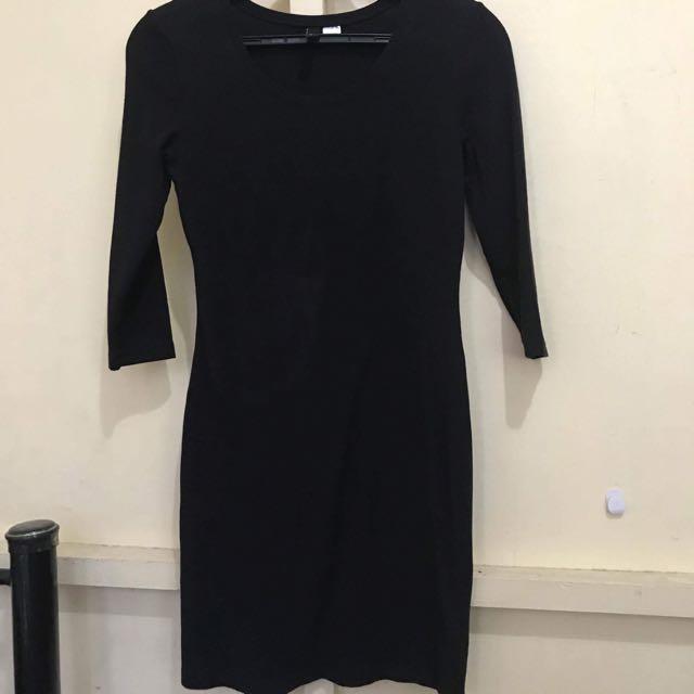 HnM Black Body Con Dress