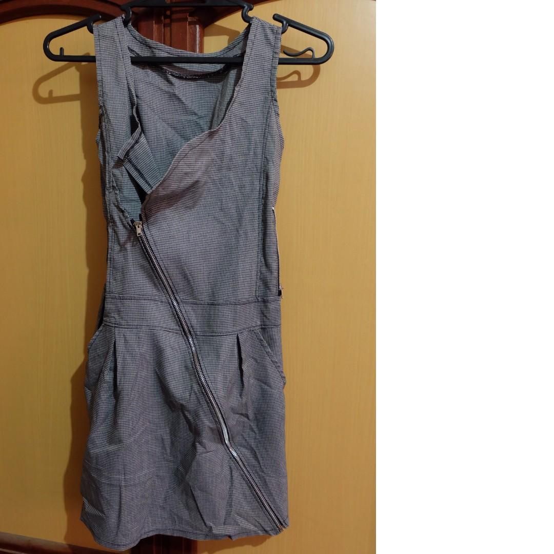 Houndstooth Assymetrical Dress