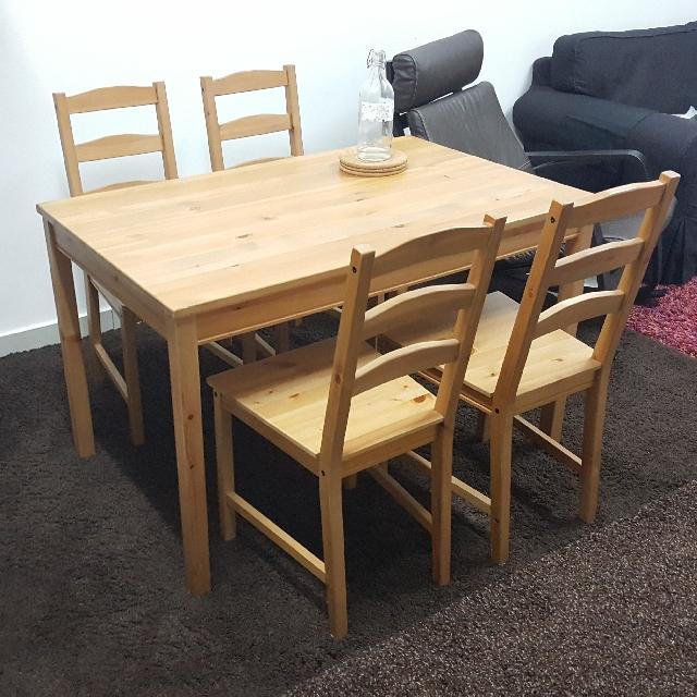 Ikea Jokkmokk Table And 4 Chairs Home Furniture On Carou