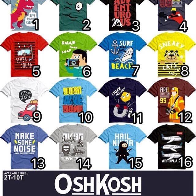 Kaos Anak Oshkosh 2T-10T
