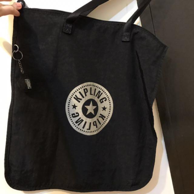 Kipling 黑色 肩背 購物袋