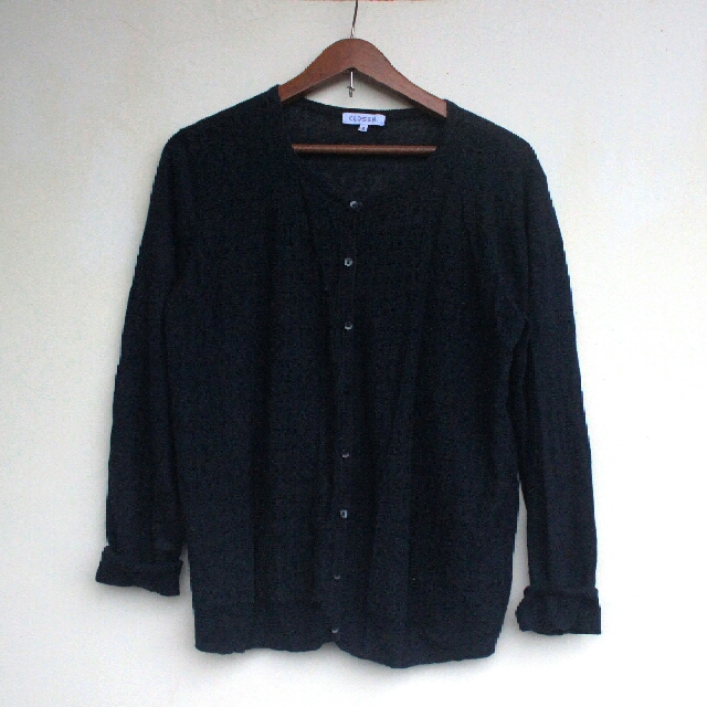 Navy Blue Cardigan with Lace