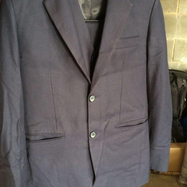 Navy blue formal complete suit