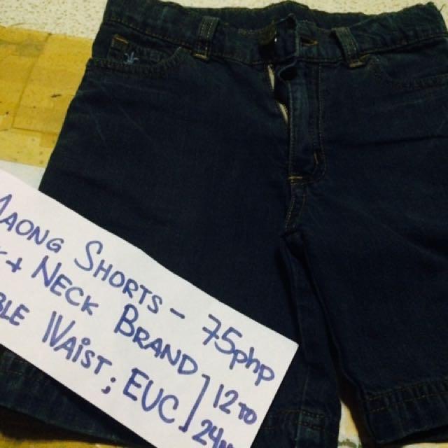 Neck and Neck Denim Shorts