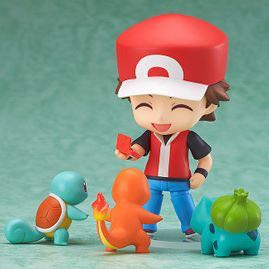 Nendoroid Pokémon Trainer Red (ねんどろいど れっど) - 100mm in height