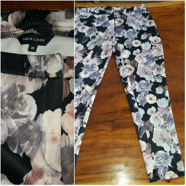 New Look Flower Pants