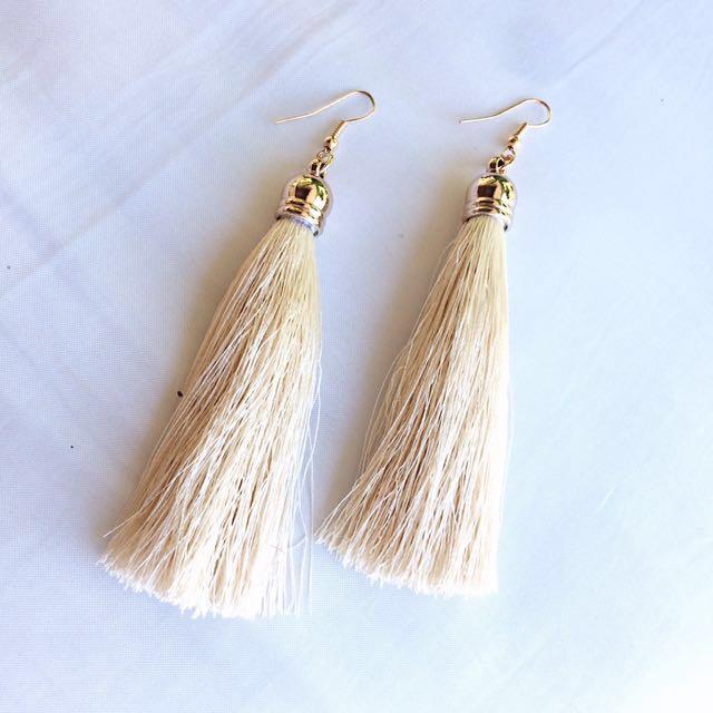 Nude Tassel Earrings