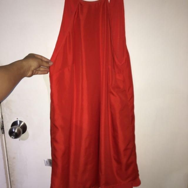 Orangey dress