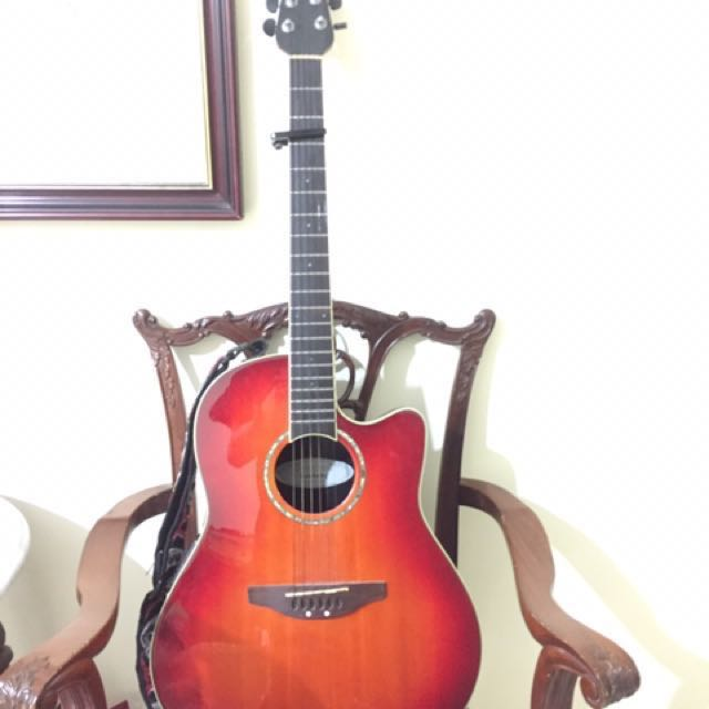 Ovation Semi Acoustic Guitar Music Media Music Instruments On