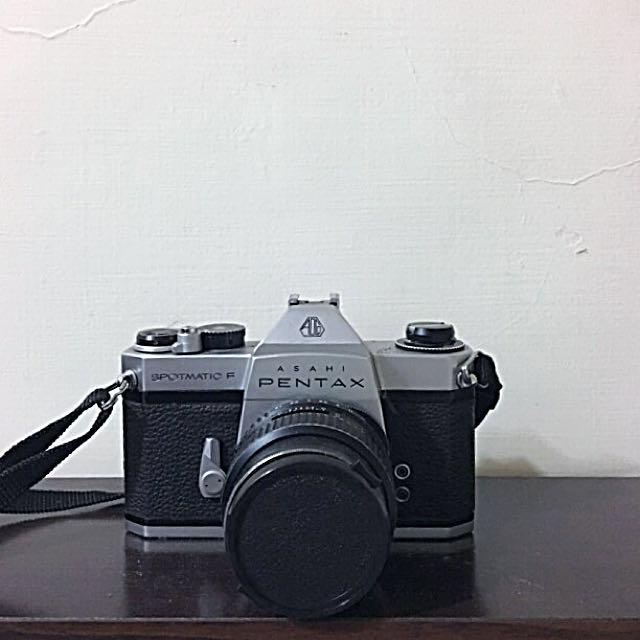 Pentax SpotmaticF 底片相機(含鏡頭)