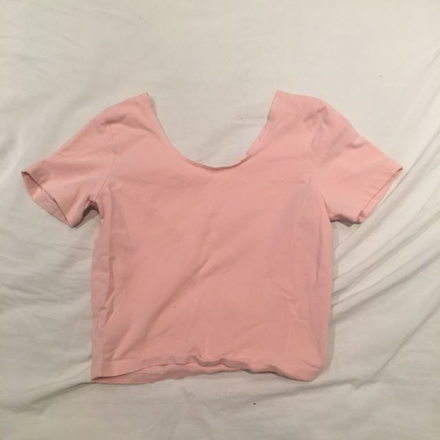 Pink American Apparel Crop Top