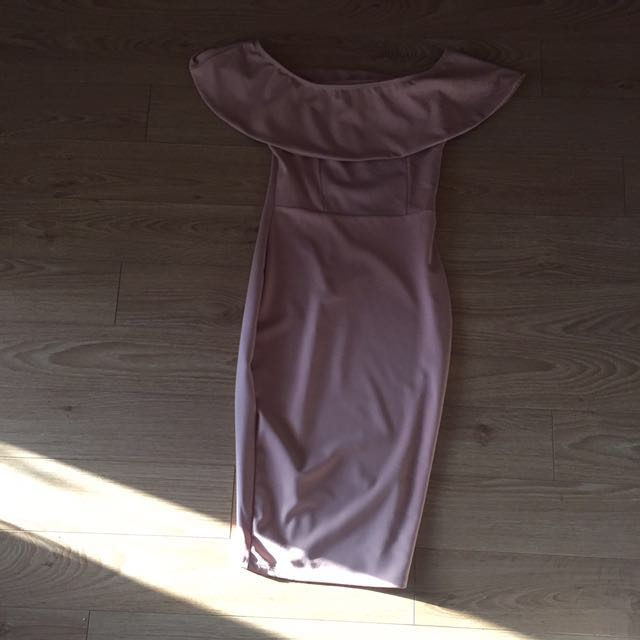 Pink Dress from M - off shoulder size small
