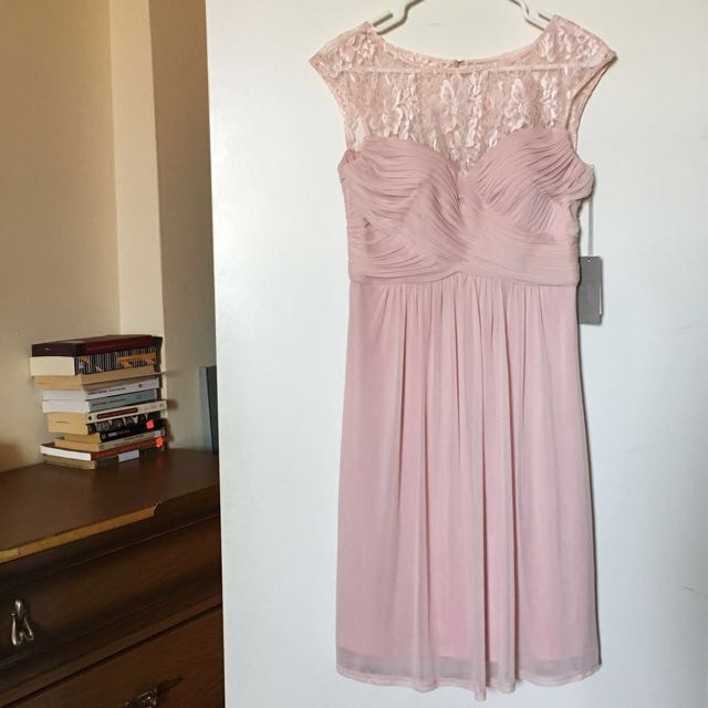Pink Rose Lace Dress