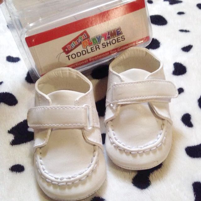 Pitter-Pat White Shoes