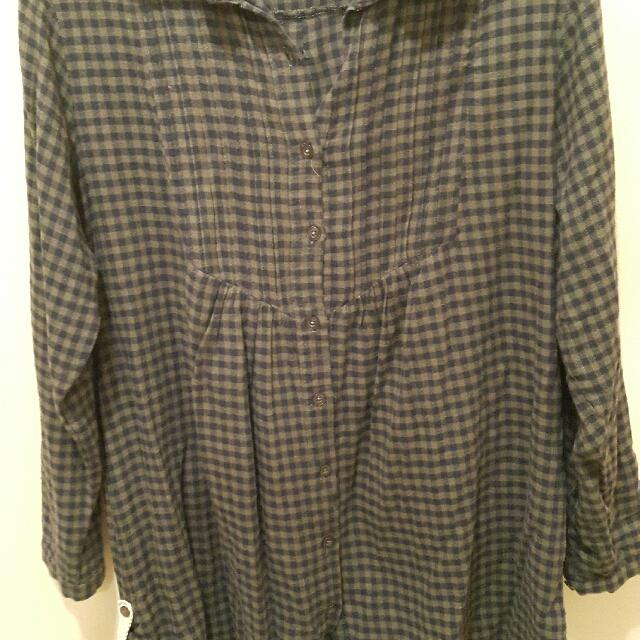 Plaid Gingham Dress Shirt