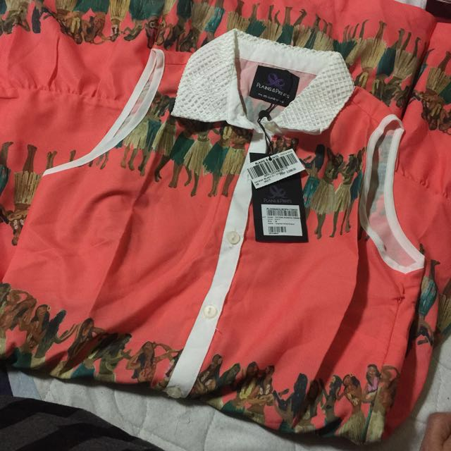 Plains and prints Cayman island s/l dress xs