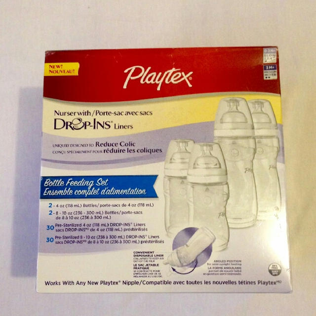 Playtex with Drop-Ins Liners Set