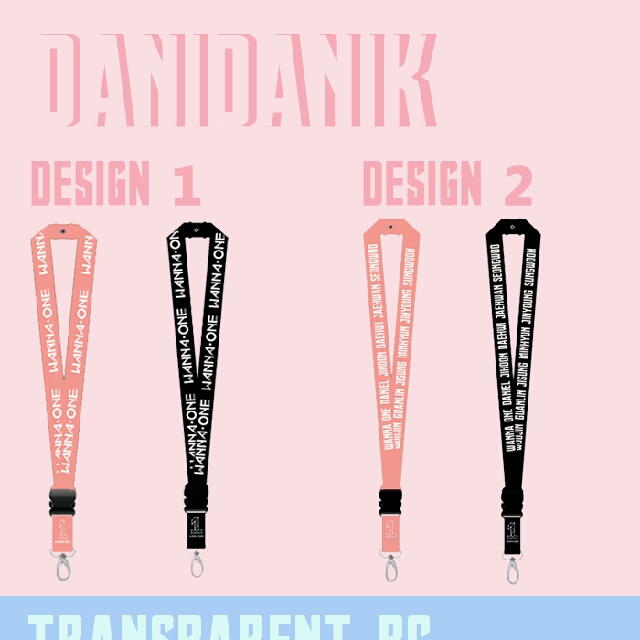 [PO] Wanna One Lanyard And Transparent Pc