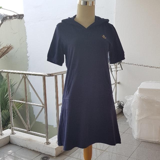 Portland Navy Hoodie Dress