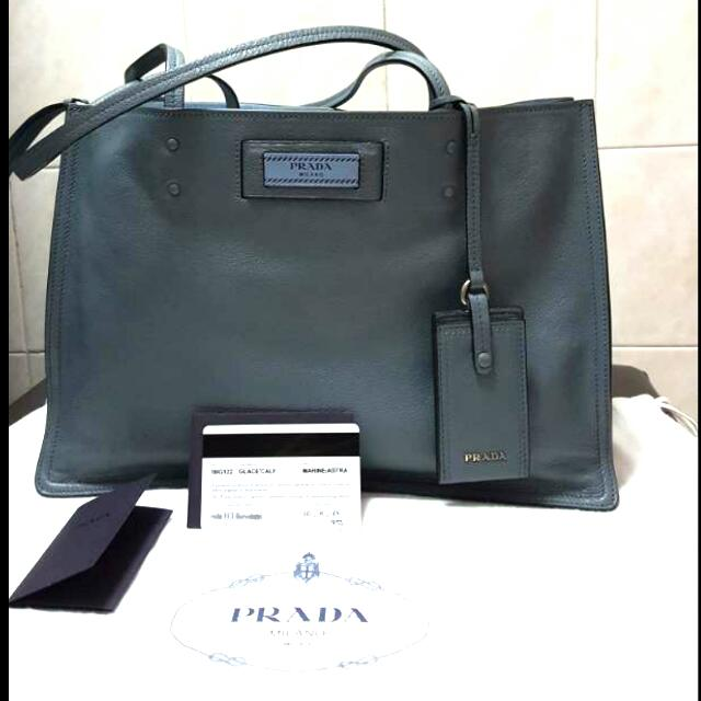d80deb32f043 Prada Etiquette Bag (Marine Blue/Astral Blue), Luxury, Bags & Wallets on  Carousell