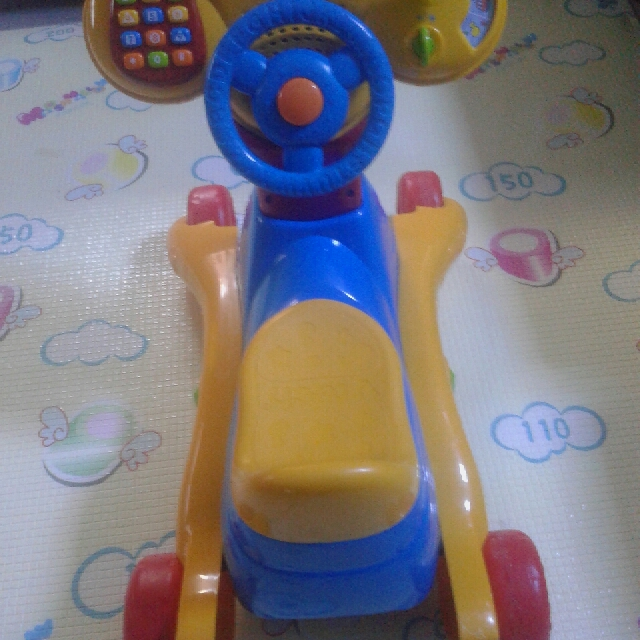 preloved motor/rocker and abc songs.  Vtech 3-in 1 smart wheels