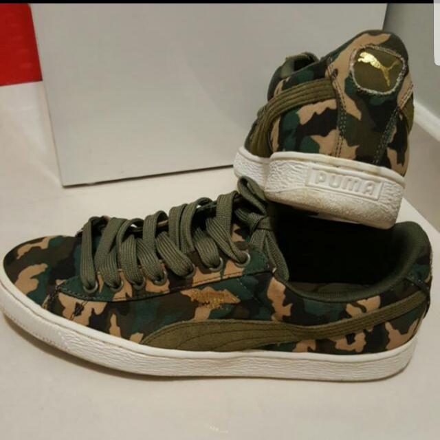 a6fe7c27a60d5 puma basket camo sneaker, Men's Fashion, Footwear on Carousell