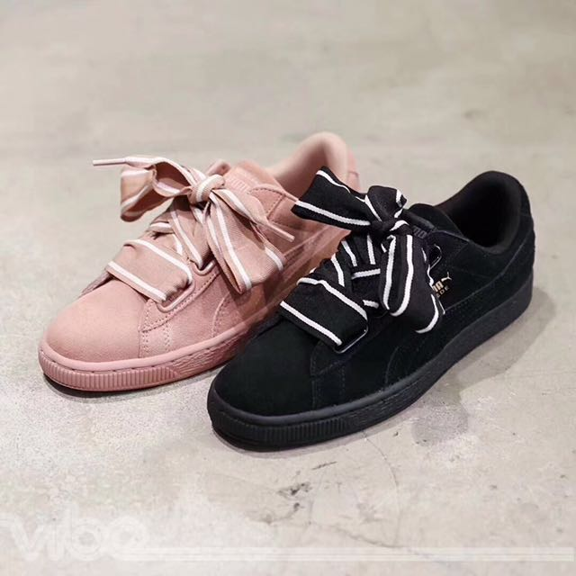 6b24b88fc053 Puma Suede Heart Satin II •Pink & Black•, Women's Fashion, Shoes on  Carousell