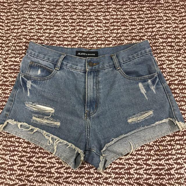 🌹Queen shop刷破牛仔褲