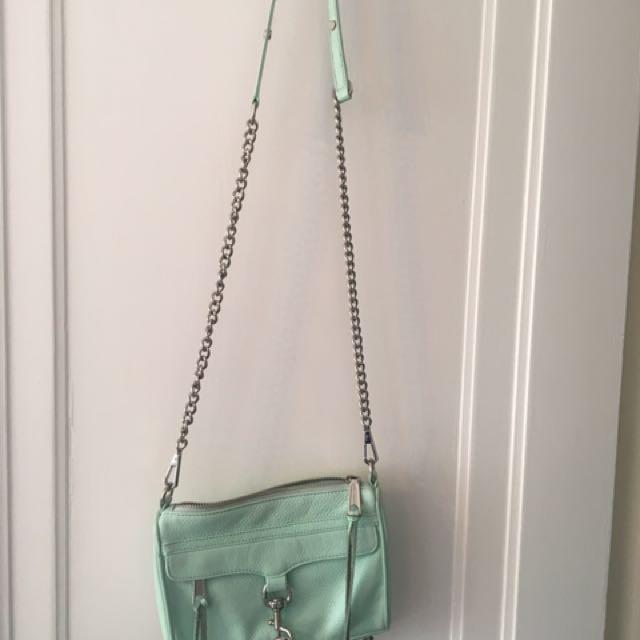 Rebecca minkoff seafoam green purse