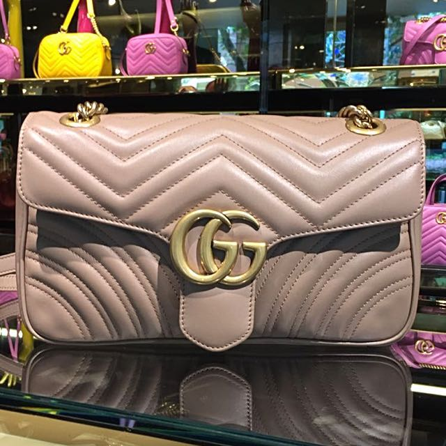 7dcdf0714d1b Reduced* Authentic Gucci GG Marmont Matelasse Shoulder Bag, Luxury ...