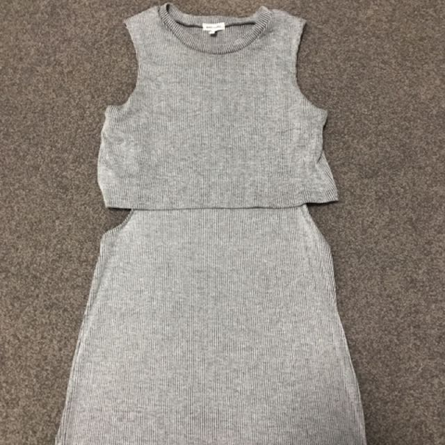 River Island Ribbed Knit Dress