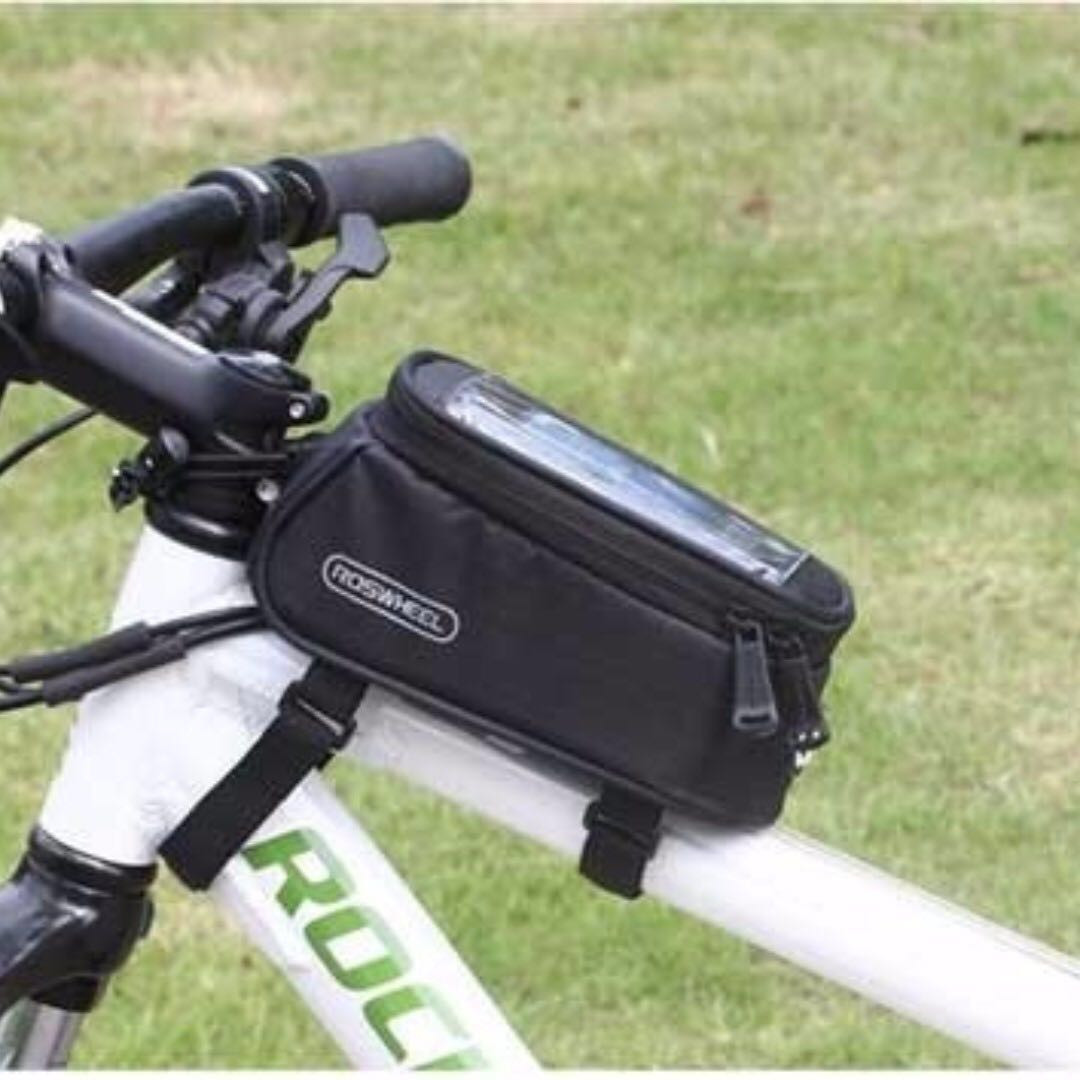 Waterproof Roswheel Cycling Bike Bicycle Frame Pannier Front Tube Bag Case Green