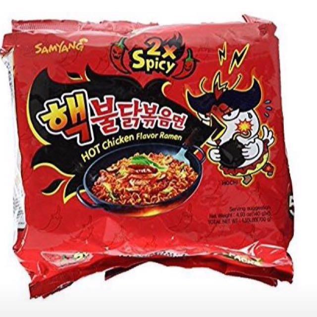 Samyang 2x spicy korean noodles
