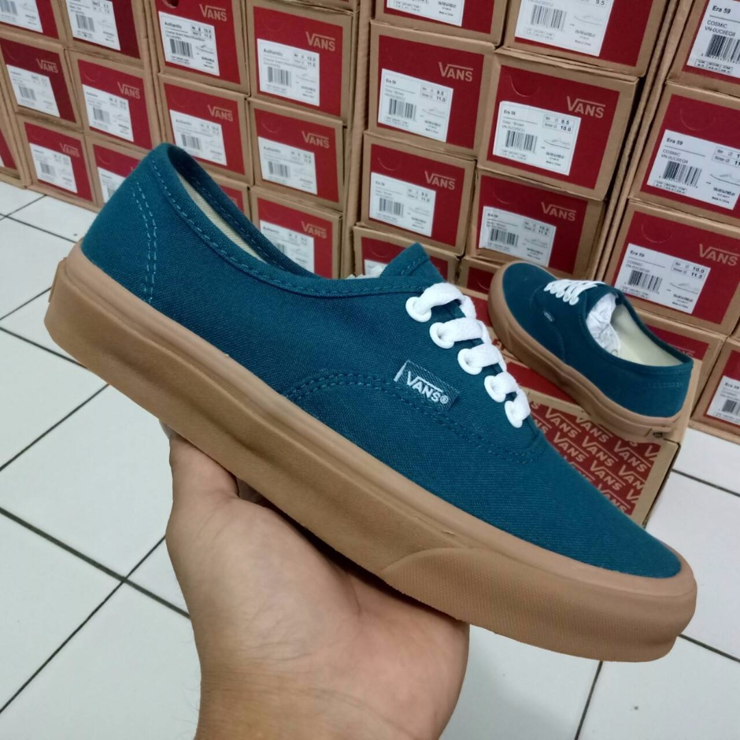 SEPATU VANS AUTHENTIC ATLANTIC DEEP LIGHT GUM PREMIUM WAFFLE DT BNIB (Brand  New In Box) FULL TAG BARCODE MADE IN CHINA ac99bbdc7a