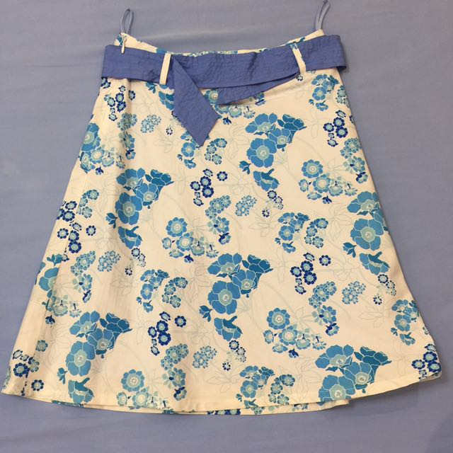Skirt with Self Belt