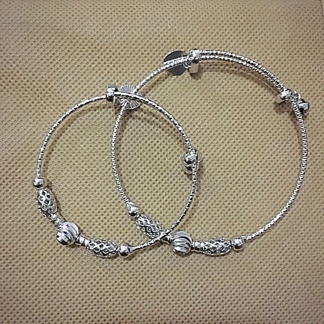 Slim Bangle: Mother & Daughter Silver set