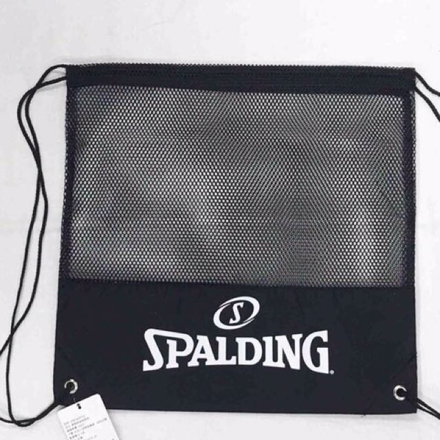 全新正版斯伯丁Spalding束口後背包 後背籃球網袋