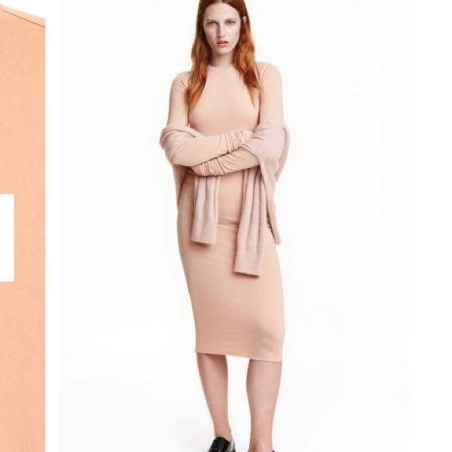 Tags Attached Nude Bodycon From H&M