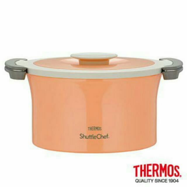 THERMOS膳魔師不銹鋼真空燜燒鍋 KBE-3000 3.0L 粉橘(台中新光三越)