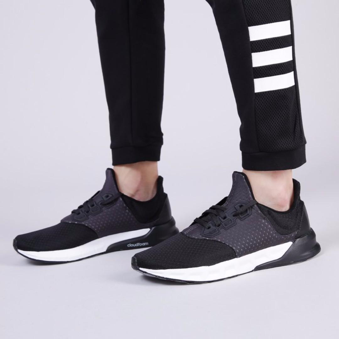 【吉米.tw】Adidas Falcon Elite 5 慢跑鞋 運動鞋 透氣 健身 跑鞋 黑白輕量 避震 BA8166