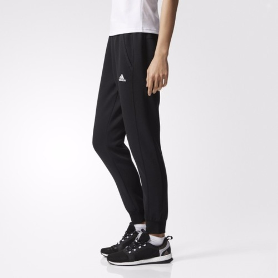 【吉米.tw】ADIDAS ID 女款 SKINNY 縮口 黑色 窄版 運動長褲 健身 長褲 慢跑 BR3848