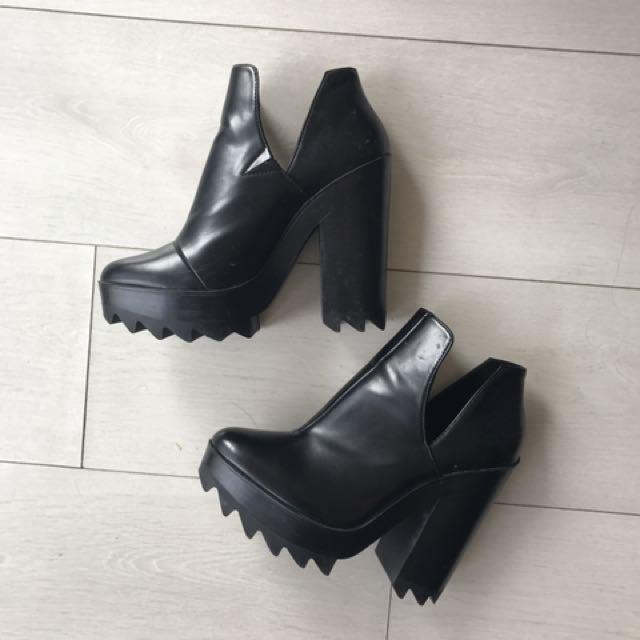 Zara edgy platform heels