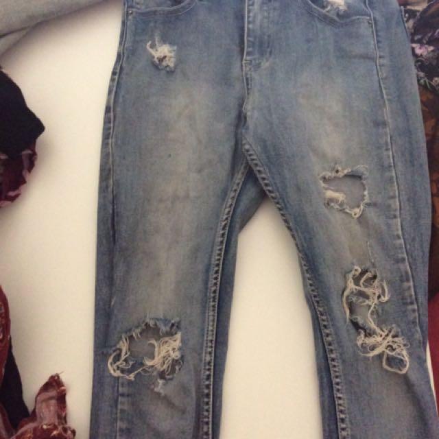 Ziggy Denim Sticks & Bones Ripped Jeans