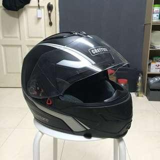 Flip up helmet grayfosh