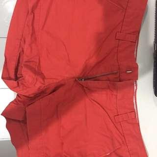 Red Uniqlo Shorts